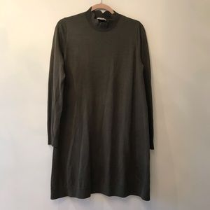 EUC COS Olive Sweater Dress Small